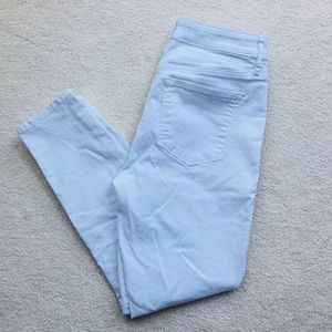 Never worn Loft white skinny high waist ankle jean